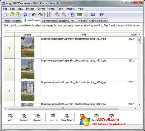 Screenshot PTGui Windows 7
