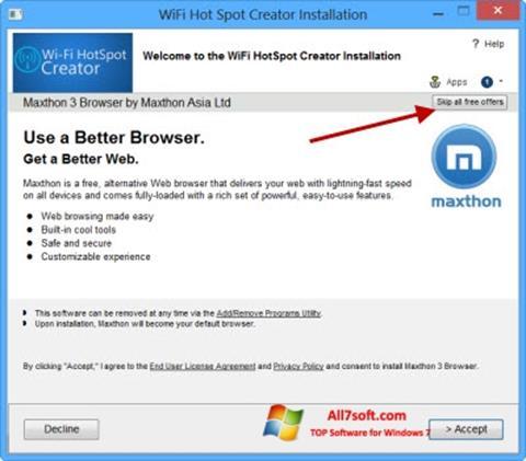 Screenshot Wi-Fi HotSpot Creator Windows 7