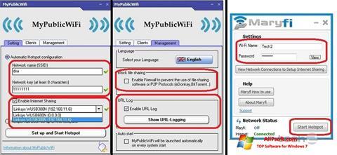 Screenshot MaryFi Windows 7