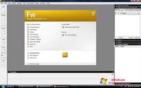 Screenshot Adobe Fireworks Windows 7