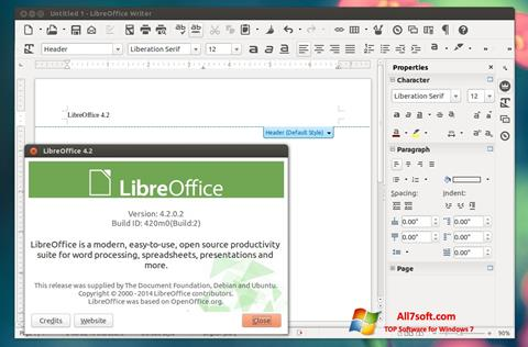 Screenshot LibreOffice Windows 7