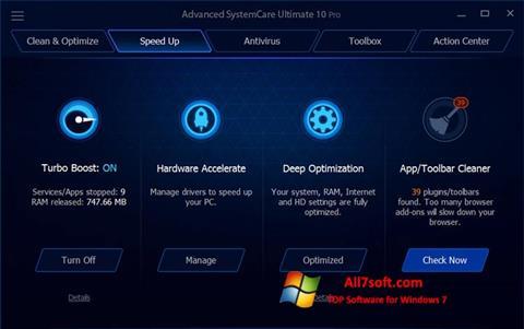Screenshot Advanced SystemCare Ultimate Windows 7
