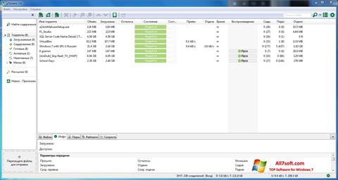 Screenshot uTorrent Windows 7