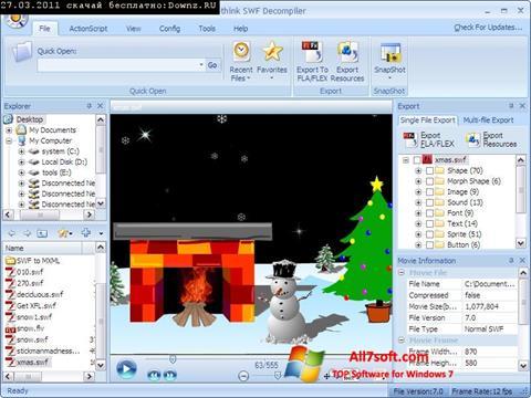 Screenshot Sothink SWF Decompiler Windows 7