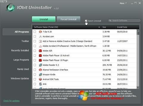 Screenshot IObit Uninstaller Windows 7