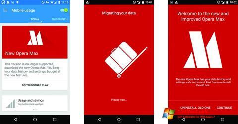 Screenshot Opera Max Windows 7