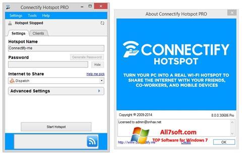 Screenshot Connectify Hotspot Windows 7