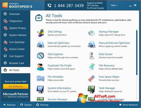 Screenshot Auslogics BoostSpeed Windows 7