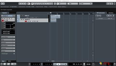 Screenshot Cubase Windows 7