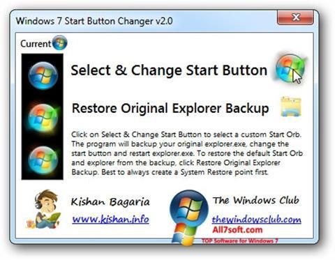 Screenshot Windows 7 Start Button Changer Windows 7